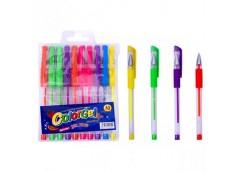 Набір ручок 10 кол гель неонові 108-10