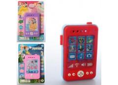 Телефон 11см. муз. звук, 3 вида (FR,DP,AV) на бат. на листі 12-18-2см  8105 (240...