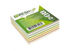 Папір д/нотат Fresh up 85х85мм 400арк. клеєний мікс FR-2212 /100407