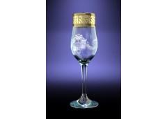 Набір бокалів Тулип золота кайомка для шампанського 200 мл. GE05-160 ЮЖП