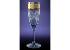Набір бокалів Едем золота кайомка для шампанського 170 мл. GE05-1687 ЮЖП