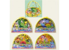 Коврик для немовлят в сумкі з погремушками 4 вид. 518-02/3/4/6 (12)
