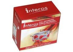 Каструля емаль 2.1 л. скляна кришка серія Преміум Interos (1/2) ІНТР