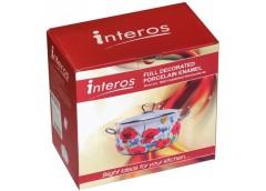 Каструля емаль 4,1л скляна кришка серія Преміум Interos (1/2) ІНТР