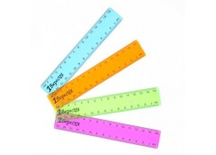 Лінійка 1Вересня пласт кольорова проз 15 см  370466 (1/100)