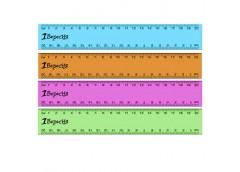 Лінійка 1Вересня пласт кольорова проз 20 см  370574 (1/100)