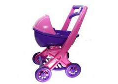 Коляска для ляльки рожевий-фіолетовий 0121/02 (6) DT