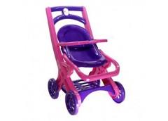 Коляска для ляльки з шезлонгом рожевий-фіолетовий 0122/02 (8) DT