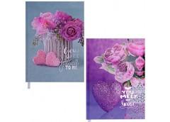 Щоденник недатов. ROMANTIC, А5, 288арк. бірюзовий фіолетовий BM. 2040-06/07