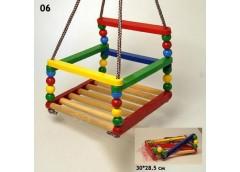 Гойдалка підвісна пластмаса + дерево, для дітей 3-5 років (50 кг. макс)  06 (10)...