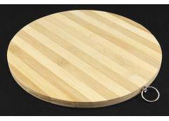 Доска кухонна бамбук кругла 28 см 6005-7 А-плюс (25)