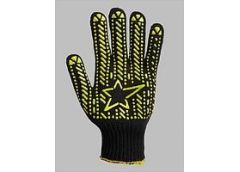 Рукавиці Doloni з зіркою чорні Х/Б з ПХВ малюнком 562(5)(200)