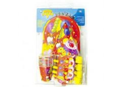 Набір святковий Клоун з кульками на 8 персон 65 предметів. в упак. 1506-0061
