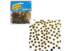 Конфеті зірки золоті 14гр 1501-0192