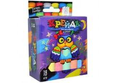 Крейда асфальтна тонка 18 кол.  MEL-02-04 Danko toys (24)