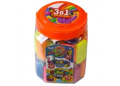 Набір д/твор 3в1: тісто для ліплення, повітряний пласт., кульк. пласт. TAB-01-01U Danko toys (6)