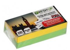 Папір д/нотат Fresh Up люкс 80х40х200 арк. клеєний кол.  FR-11/100732
