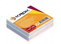 Папір д/нотат Krok білий 85х85мм 300арк.не клеєний мікс KR-2111 /100404