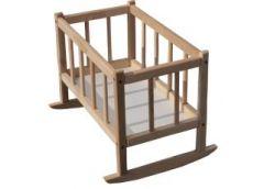 Ліжко для ляльки дерево розібране смерека бук 25*45*35 ТМ Дерево 171016 / 171838...