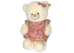 Ведмедик травичка з серцем/з шарфомі муз вел