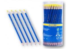 Ол граф BUROMAX пластик. синій з ластиком в тубусі BM 8514 (100/1000/2000)