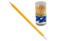 Ол граф BUROMAX пластик. жовтий з ластиком в тубусі BM 8500 (100/600/1800)