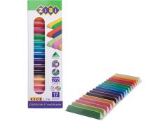 Пластилін Zibi Kids Line трикутна форма 17 кол. (12 станд + 5 неон) 272  г. ZB 6...