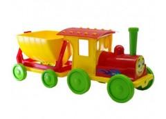 Поїзд-конструктор 1 причіп  70*25*25см. червоний в кор. 60*62*62см. 013115/3 (1)...