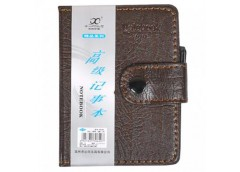 Блокнот 68арк. клітинка 11*8см з ручкою кож. зам 80100