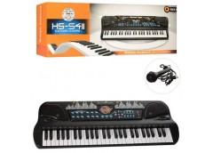 Синтезатор в кор.54клавіш, мікрофон, USB. MP3 на бат. 2вид. 69*25*10см HS5411-21...