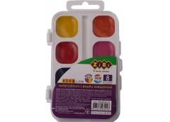 Акв. ZIBI 8 кольорів пластик без пензля 6542-10 (1/24)