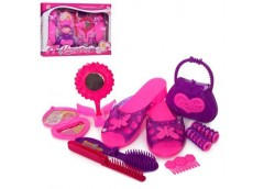 Набір аксесуар туфлі,сумочка,дзерколо, разчос в коробці 35*27*5 8028 (60)