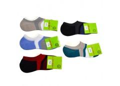 Шкарпетки жіночі сліди високі, силікон, бавовна 100%смужка асорті 36-40р 229WL (12)  0012WG