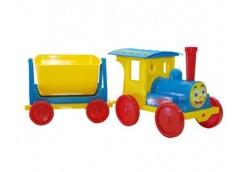 Поїзд-конструктор 1 причіп  70*25*25см. голубий в кор. 60*62*62см. 013115/1 (1) DT