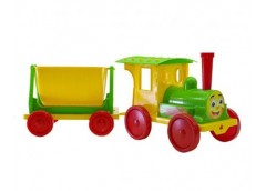 Поїзд-конструктор 1 причіп  70*25*25см. салатовий в кор. 60*62*62см. 013115/2 (1) DT