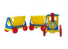 Поїзд-конструктор 2 причіпа  110*25*25см. голубий в кор. 84*60*62см. 013118/1 (1) DT