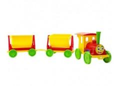 Поїзд-конструктор 2 причіпа  110*25*25см. червоний в кор. 84*60*62см. 013118/3 (1) DT