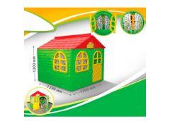 Будинок з шторками пласт. 129*129*120см зелено-червоний в кор. 128*33*86см. 02550/3 (1) DT
