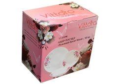 Набір обідній, 18пр. Рожевий букет Wave, Vittora  VT-419PB (1)