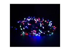 Герлянда 200 лам LED чорна, різнокол, конус ламп RV-10 (100)