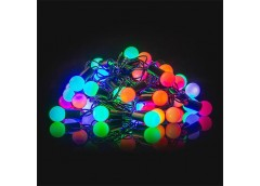 Герлянда 28 лам LED чорна, кол різнокол, шар ламп велика RV-14 (100)