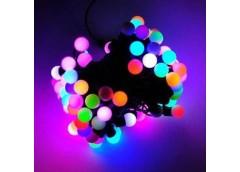 Герлянда 28 лам LED чорна, кол різнокол, шар ламп маленька RV-15 (100)