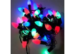 Герлянда 28 лам LED чорна, різнокольорова, твінк виноград ламп  RV-17 (100)