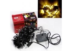 Герлянда 100 лам LED чорна, золотий колір, кристал ламп, Z-53 (100)