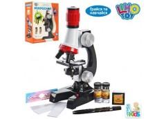 Мікроскоп в кор. 21см. світ. скло, пробірки, на бат. 19*24*9см SK 0008 (36)