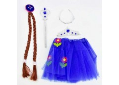 Карнавальний набір для дівчинки (юбка, коса, жезл, корона) C 31261 (100)