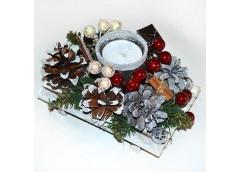 Підсвічник новорічний з корицею(1)