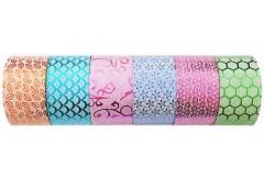 Стрічка клейка декоративна 4.8см*4,60м., в асорт. 6шт/уп. 397221 (1/6)