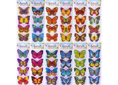 Наклейки бабочки голограма 327