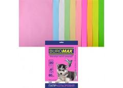 Папір офс А-4 20а/80г 10 кол Pastel+Neon 2721720-99 BM BUROMAX